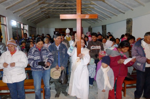 Deacon Maria leads the procession
