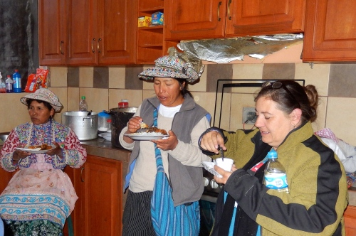 The kitchen provides a focal point for building relationships.